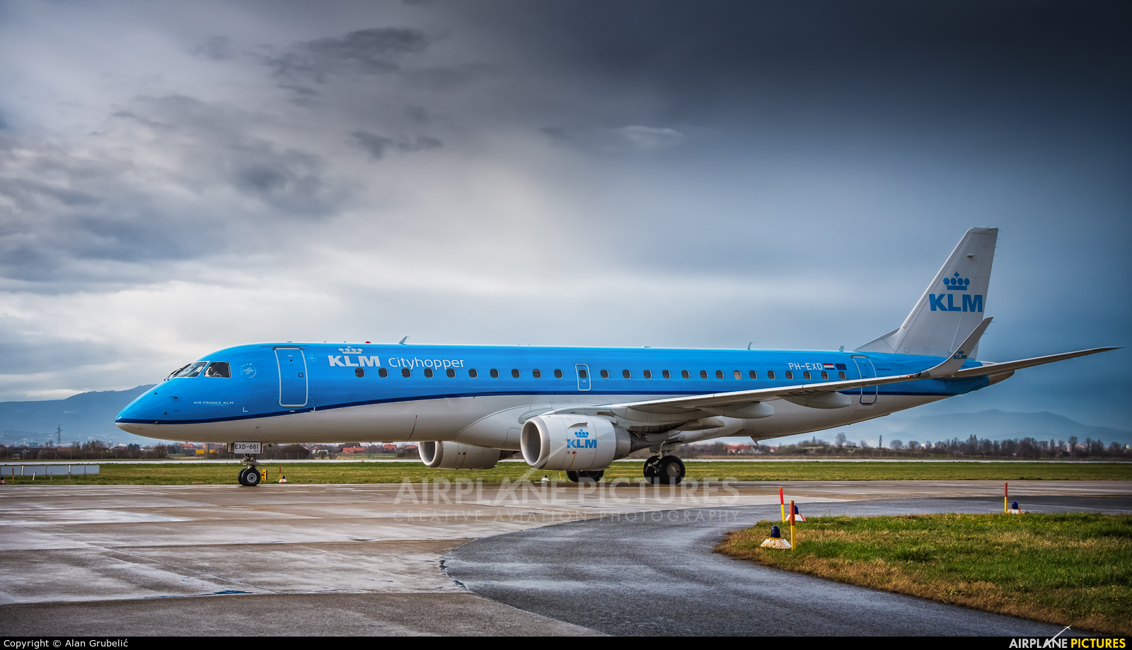 KLM Cityhopper PH-EXD aircraft at Zagreb