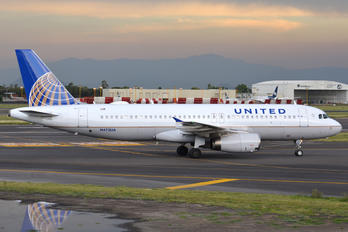 N473UA - United Airlines Airbus A320