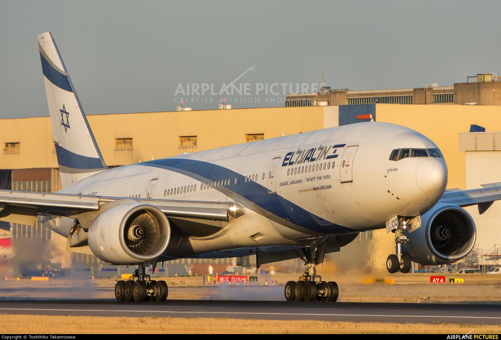 El Al Israel Airlines 4X-ECC aircraft at London - Heathrow