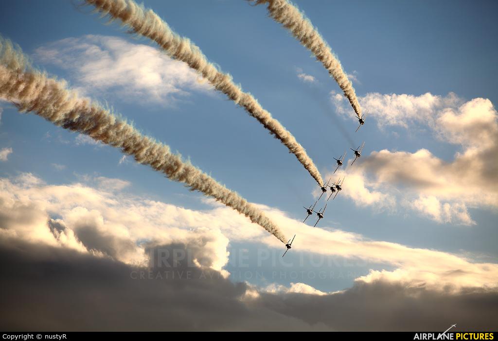 "Royal Air Force ""Red Arrows"" XX322 aircraft at Leopoldsburg - Beverlo"