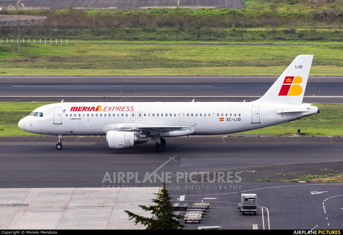 Iberia Express EC-LUD aircraft at Tenerife Norte - Los Rodeos