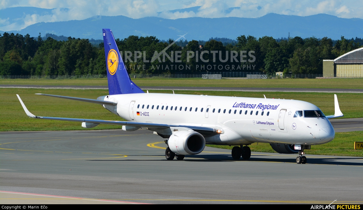 Lufthansa Regional - CityLine D-AECE aircraft at Graz