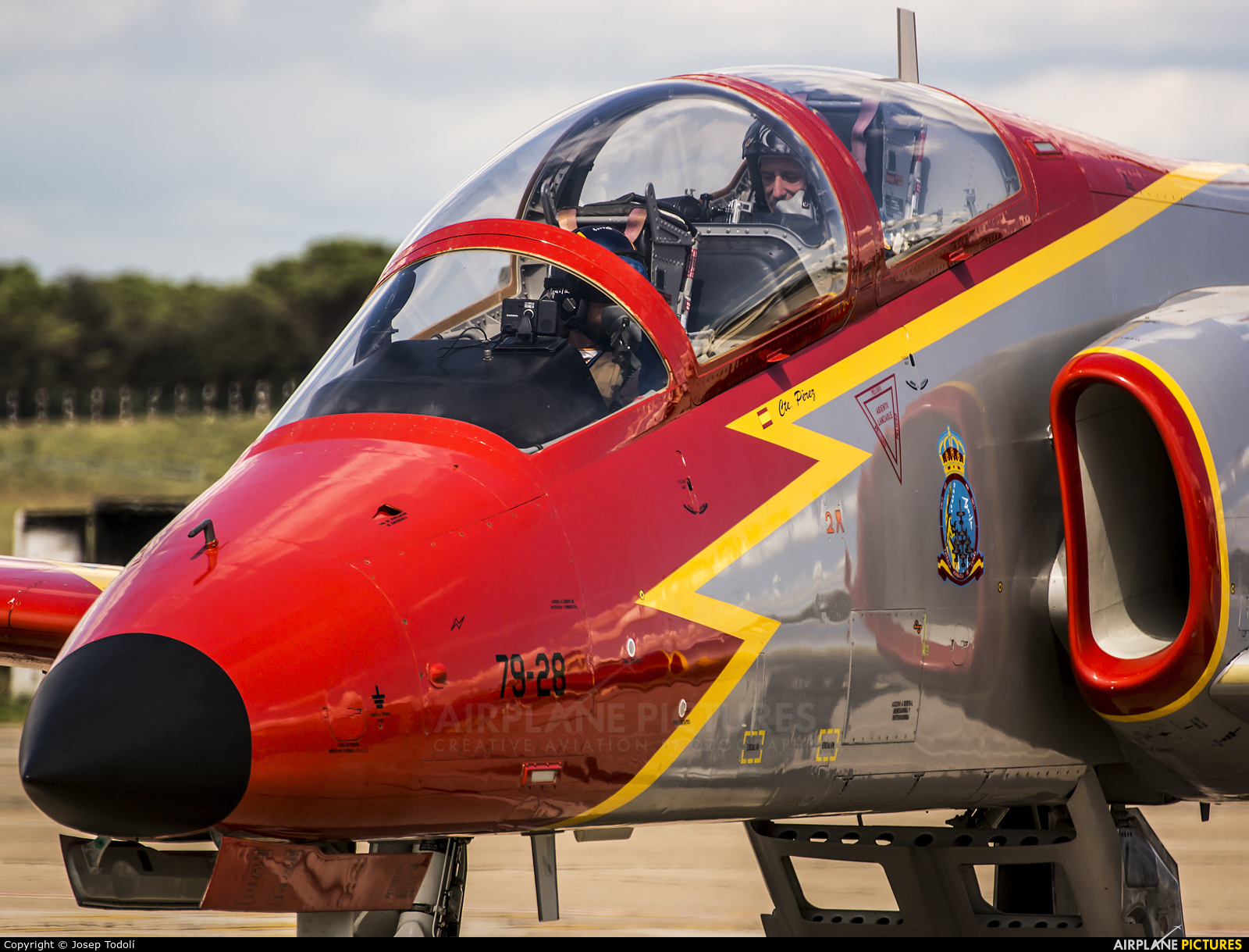 Spain - Air Force : Patrulla Aguila E.25-28 aircraft at Off Airport - Spain