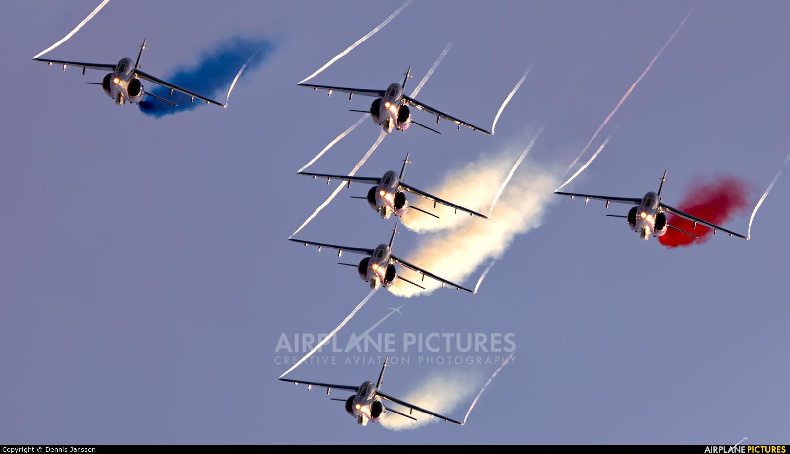 """France - Air Force """"Patrouille de France"""" E31 aircraft at Lens - Bénifontaine"""