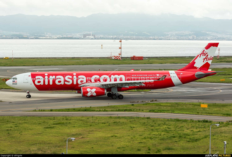 AirAsia X 9M-XXY aircraft at Kansai Intl