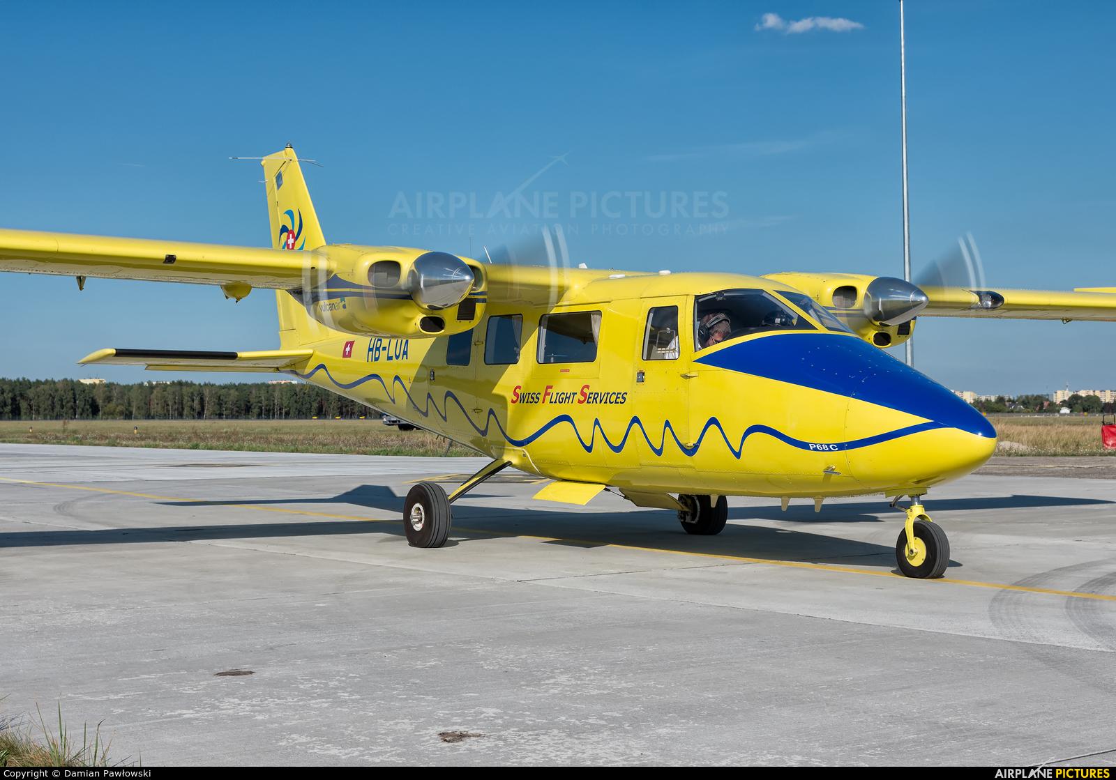 Swiss Flight Services HB-LUA aircraft at Bydgoszcz - Szwederowo