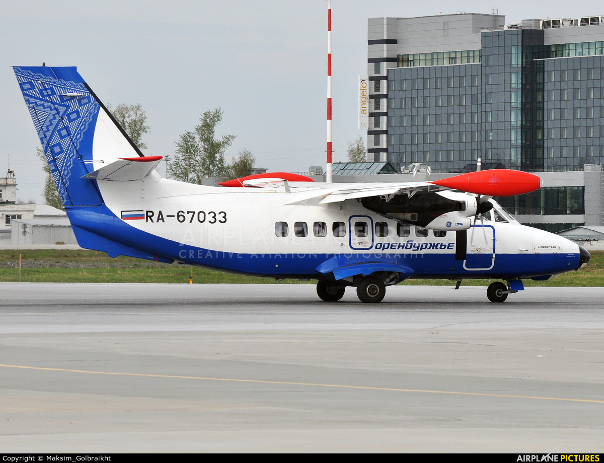 Orenburzhie RA-67033 aircraft at Koltsovo - Ekaterinburg