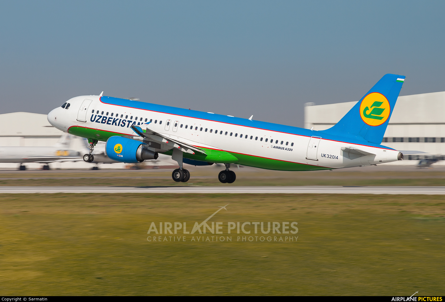 Uzbekistan Airways UK32014 aircraft at Kazan