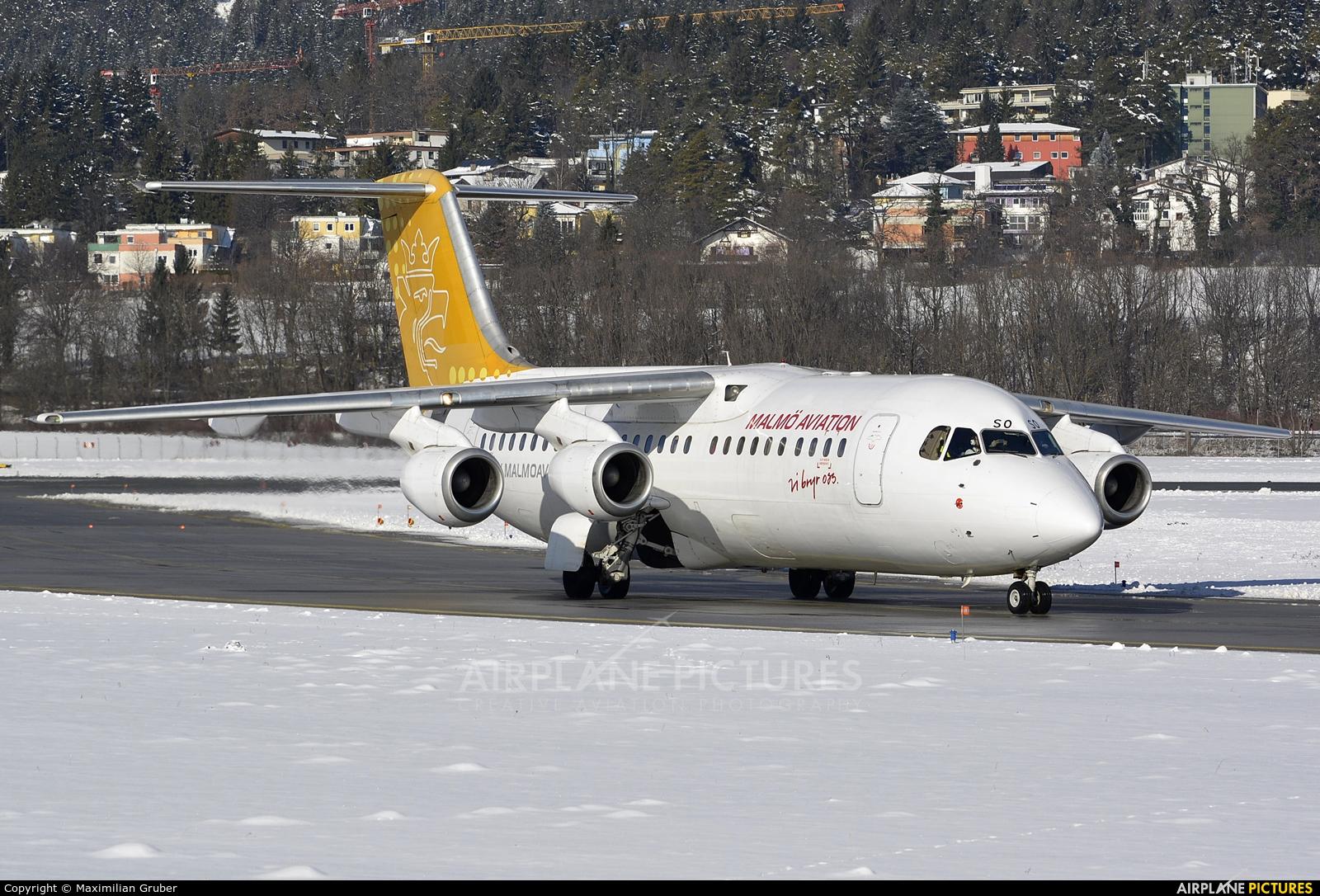 Malmo Aviation SE-DSO aircraft at Innsbruck
