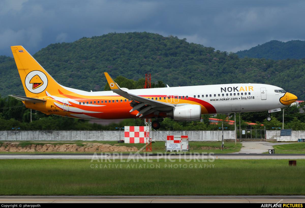 Nok Air HS-DBL aircraft at Chiang-Mai