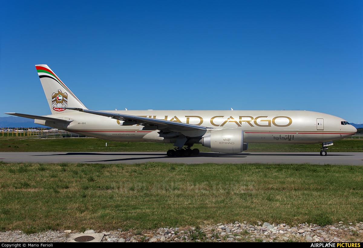 Etihad Cargo A6-DDC aircraft at Milan - Malpensa