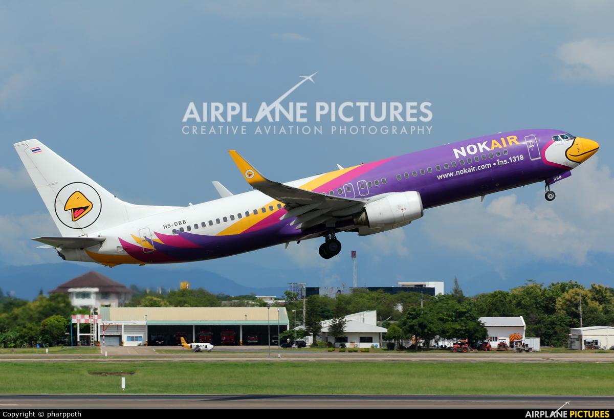 Nok Air HS-DBB aircraft at Chiang-Mai