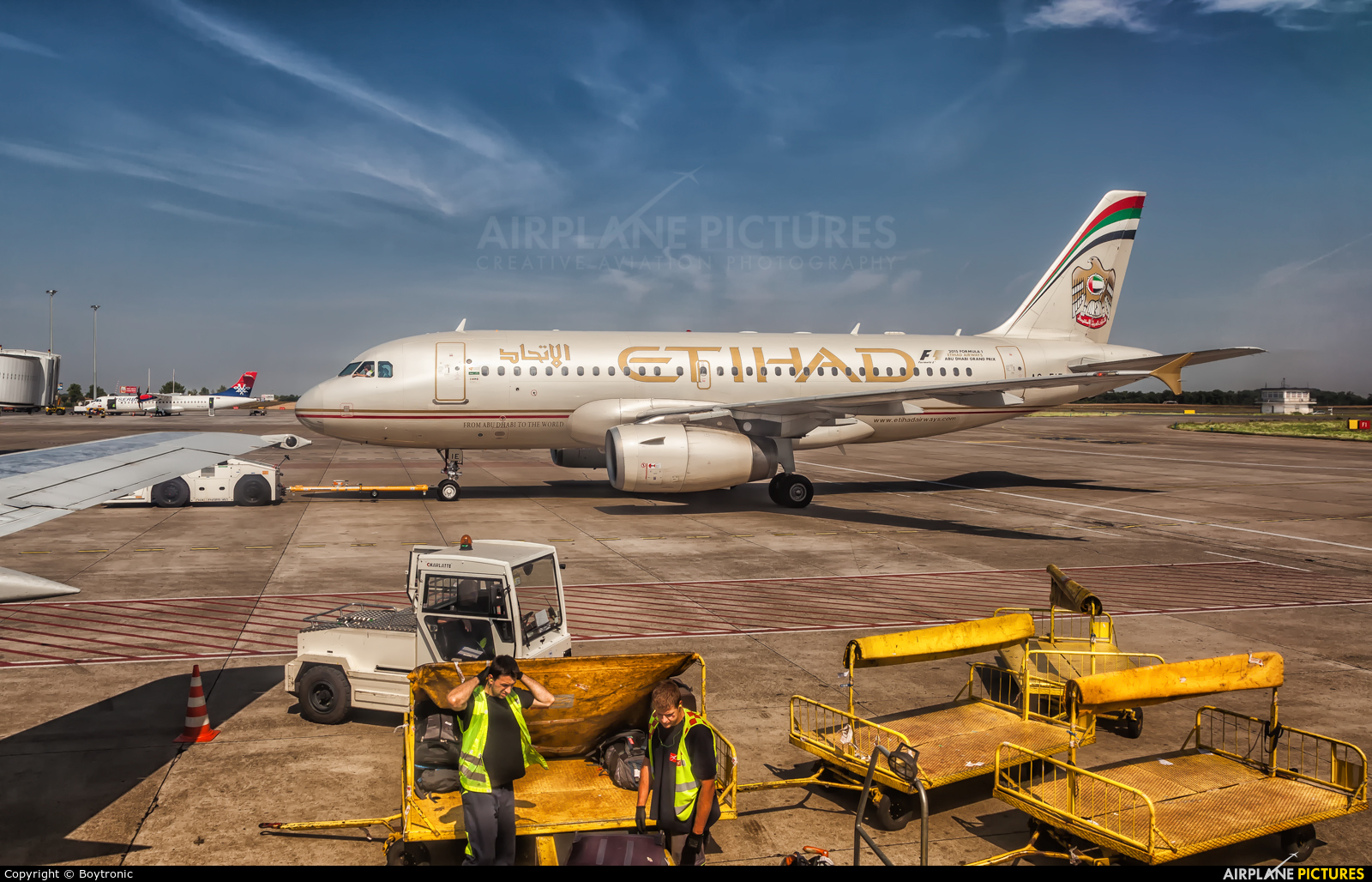 Etihad Airways A6-EIE aircraft at Belgrade - Nikola Tesla Intl