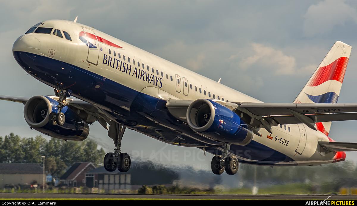 British Airways G-EUYE aircraft at Amsterdam - Schiphol
