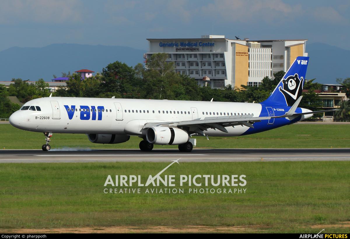 V Air B-22608 aircraft at Chiang-Mai