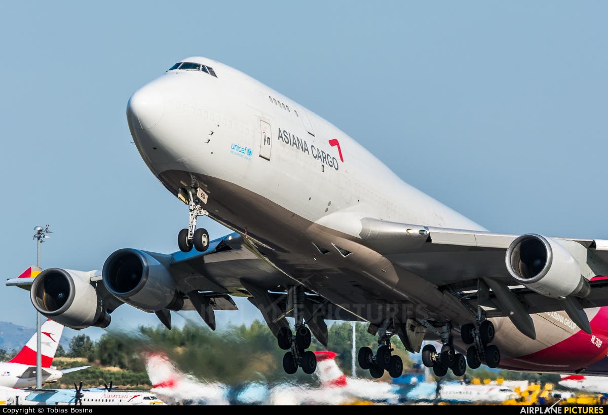 Asiana Cargo HL7618 aircraft at Vienna - Schwechat