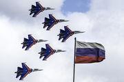 """- - Russia - Air Force """"Russian Knights"""" Sukhoi Su-27 aircraft"""