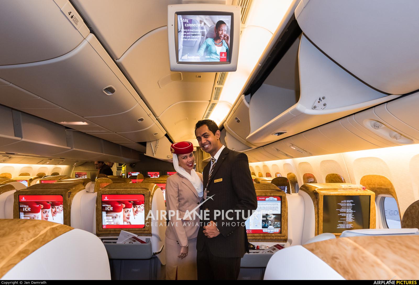 Emirates Airlines A6-EBL aircraft at Frankfurt