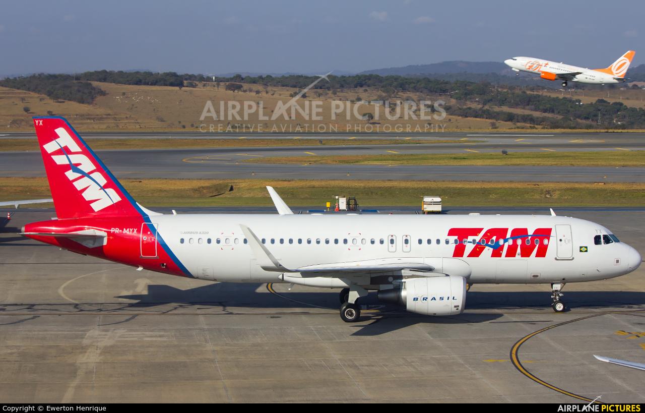 TAM PR-MYX aircraft at Belo Horizonte - Tancredo Neves