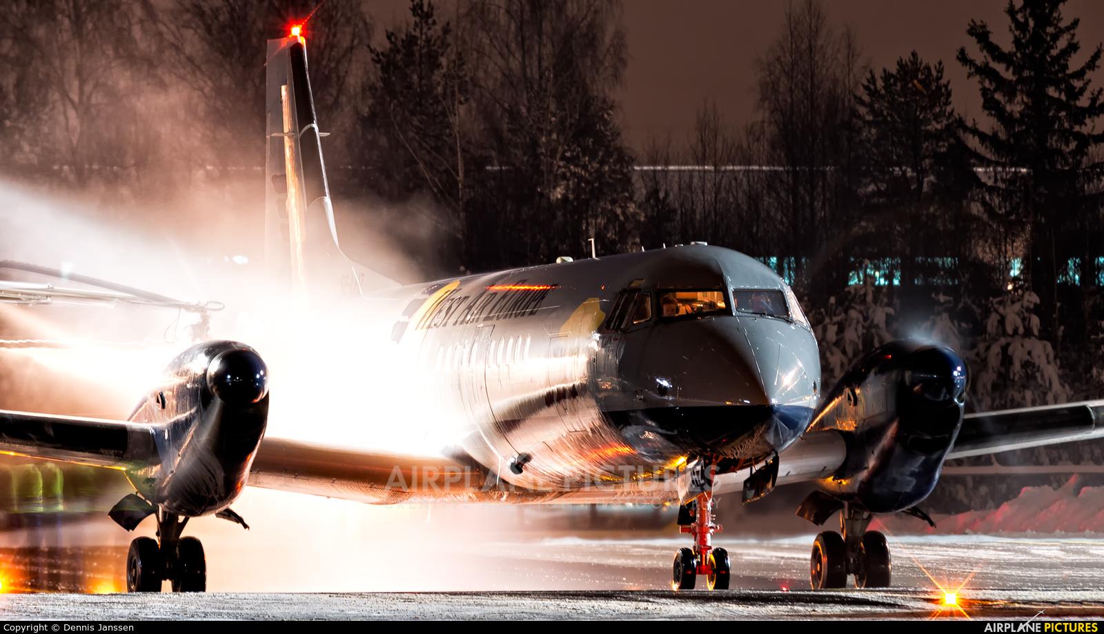 West Air Europe SE-LHZ aircraft at Oslo - Gardermoen