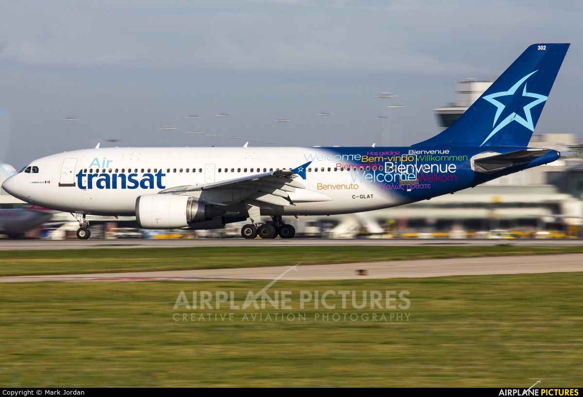 c glat air transat airbus a310 at manchester photo id 609522 airplane pictures net