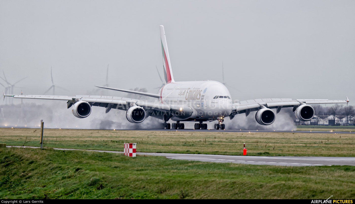 Emirates Airlines A6-EEE aircraft at Amsterdam - Schiphol