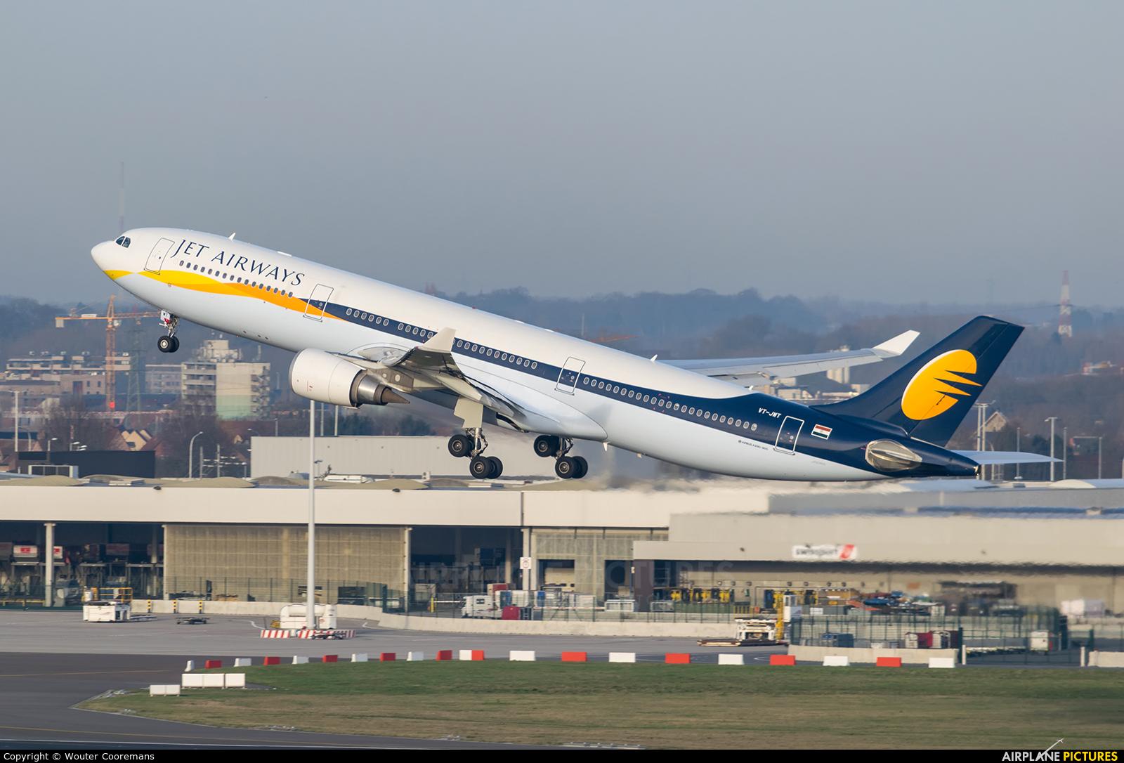 Jet Airways VT-JWT aircraft at Brussels - Zaventem