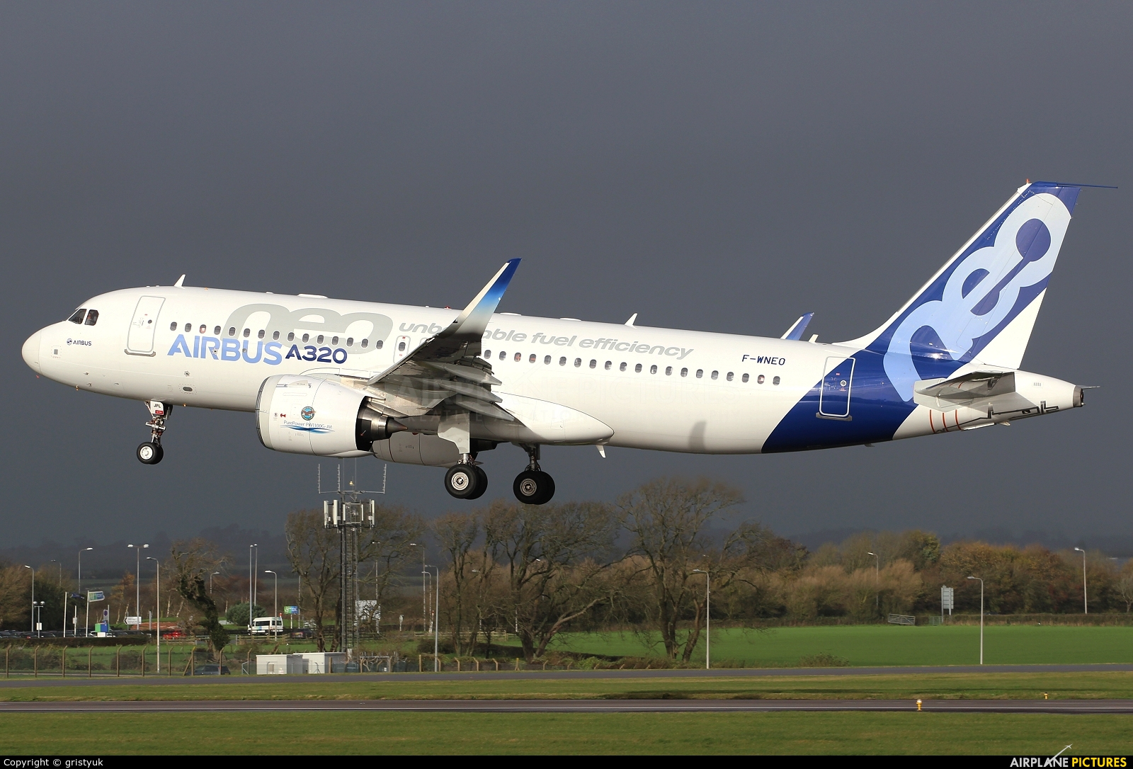 Airbus Industrie F-WNEO aircraft at Cardiff