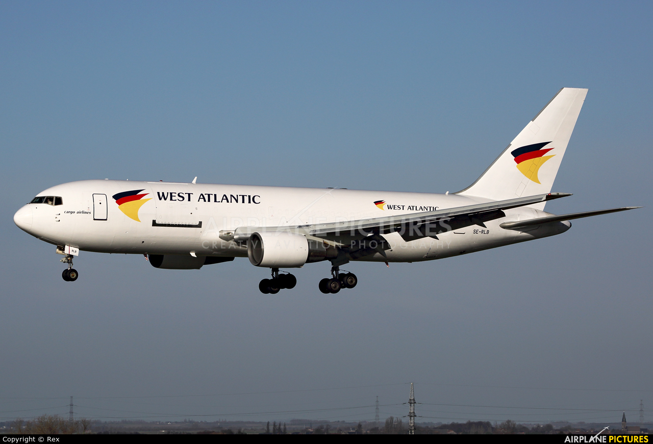 West Atlantic SE-RLB aircraft at Liège-Bierset