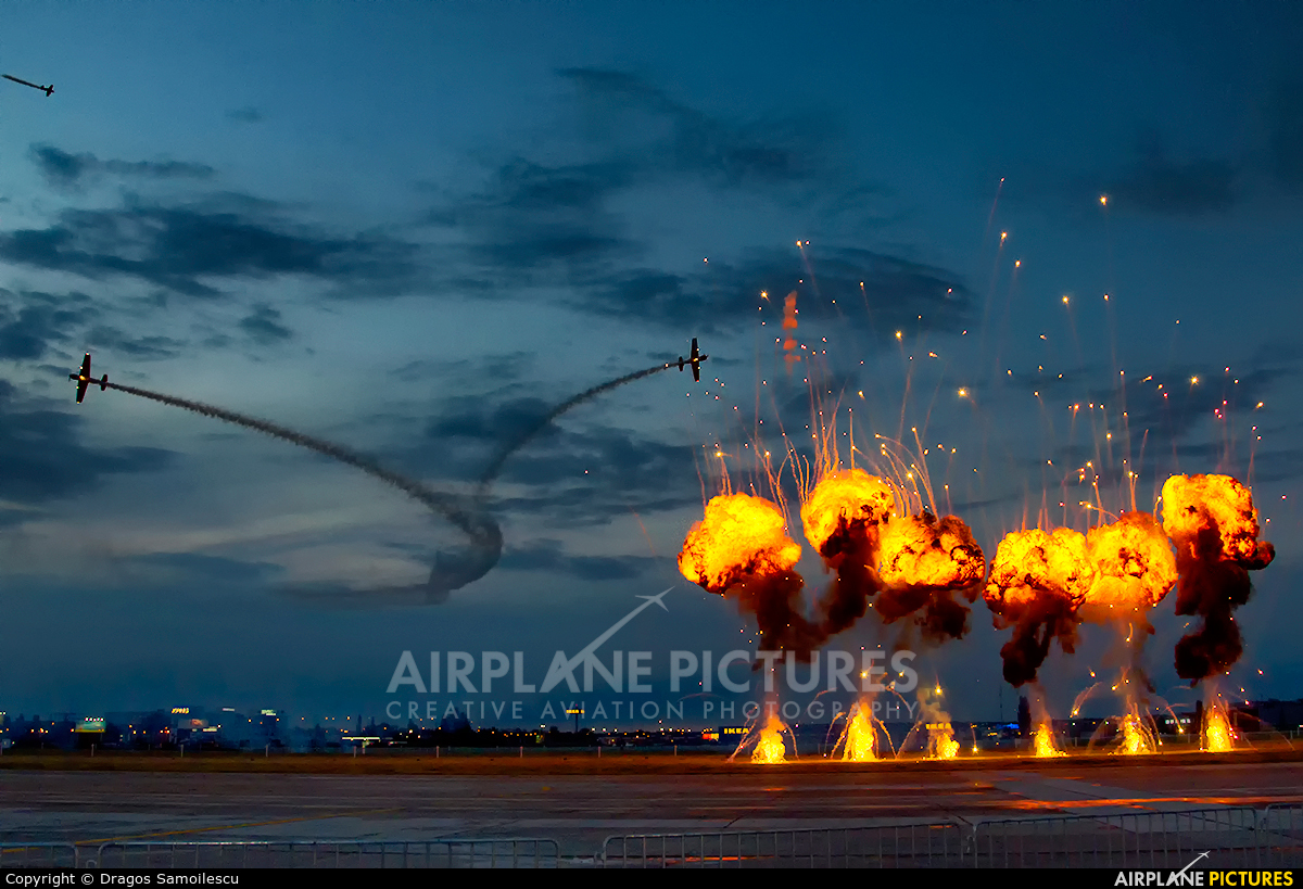 Aerobatic Yakkers LY-WAW aircraft at Bucharest - Aurel Vlaicu Intl