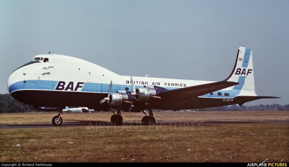 British Air Ferries  BAF G-AOFW aircraft at Southend