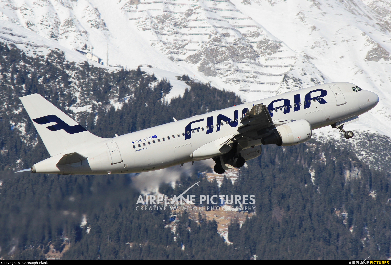 Finnair OH-LXK aircraft at Innsbruck