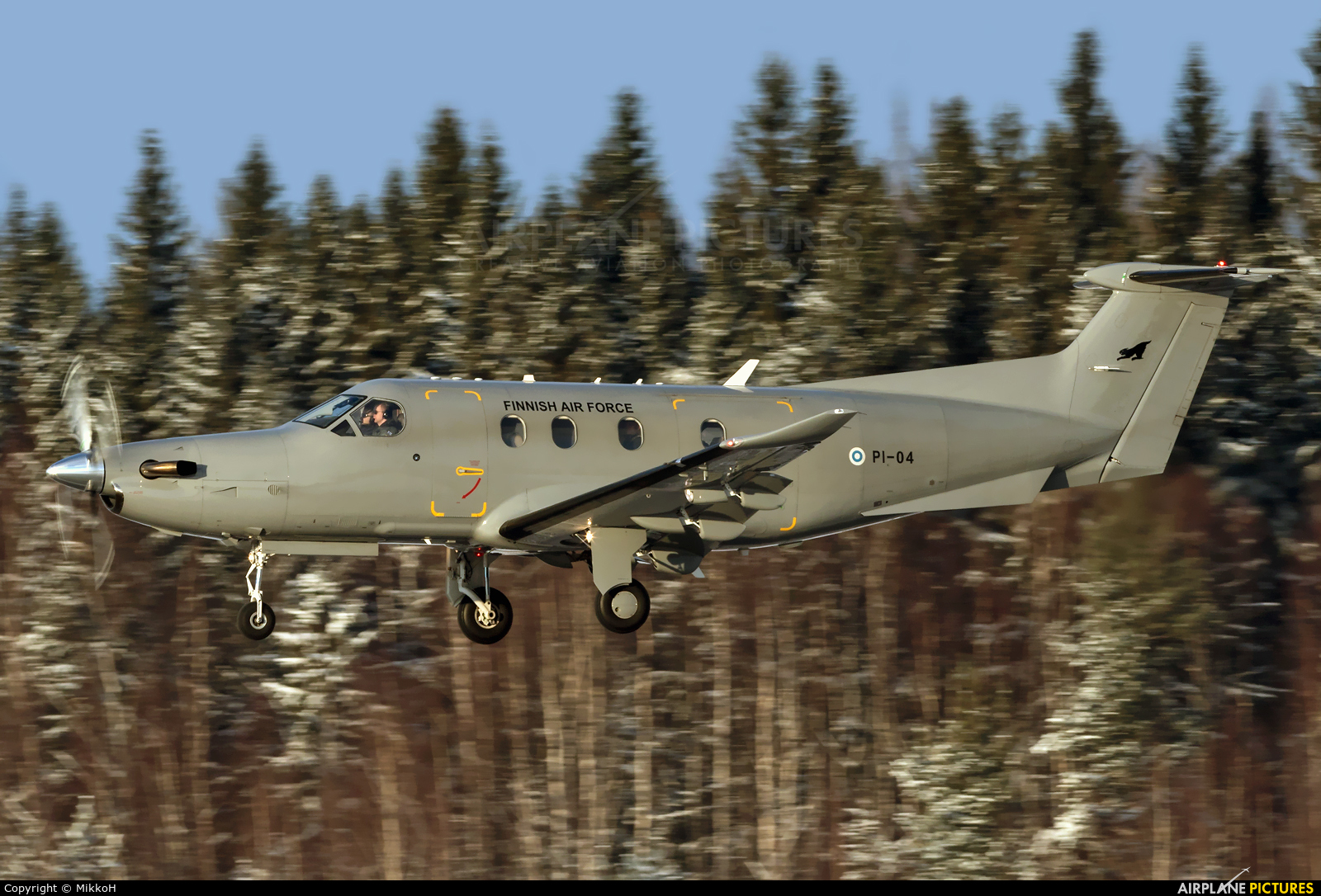 Finland - Air Force PI-04 aircraft at Helsinki - Vantaa