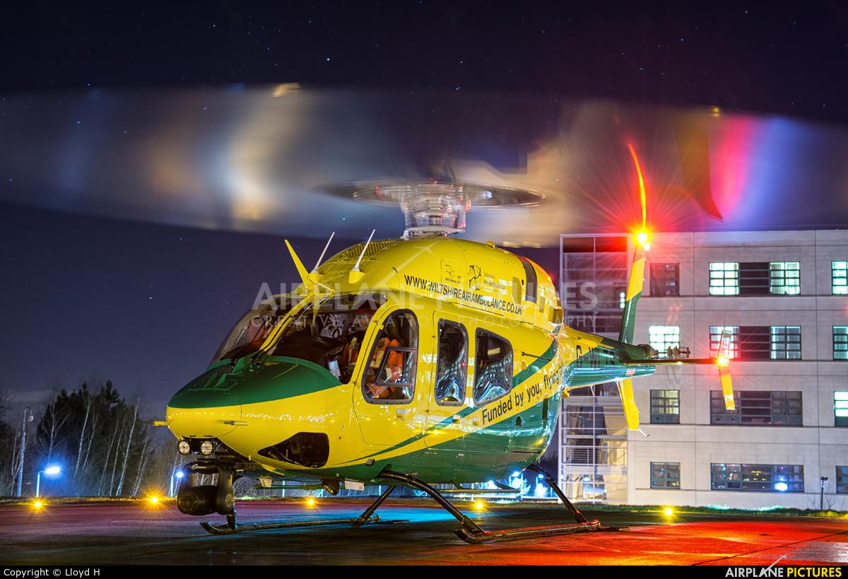Wiltshire Air Ambulance G-WLTS aircraft at Off Airport - England