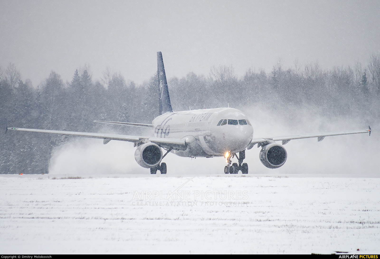 Aeroflot VP-BDK aircraft at Minsk Intl