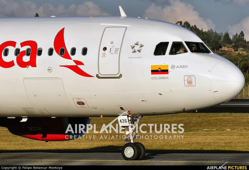 Avianca N426AV aircraft at Medellin - Jose Maria Cordova Intl
