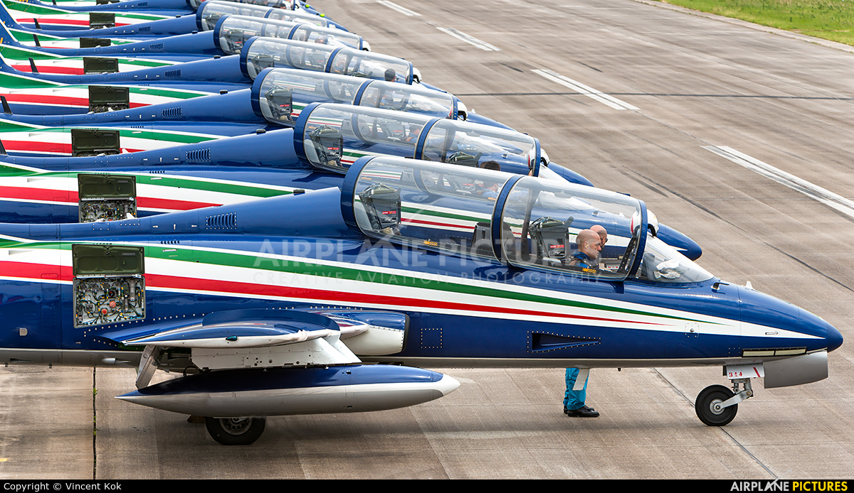 "Italy - Air Force ""Frecce Tricolori"" MM55058 aircraft at Uden - Volkel"