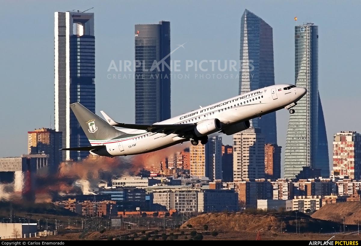 Ceiba Intercontinental CS-FAF aircraft at Madrid - Barajas