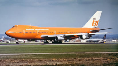 N601BN - Braniff International Boeing 747-100