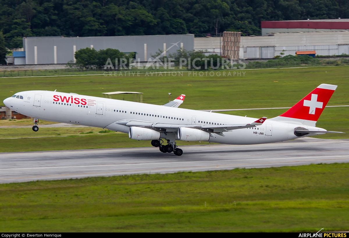 Swiss HB-JMI aircraft at São Paulo - Guarulhos