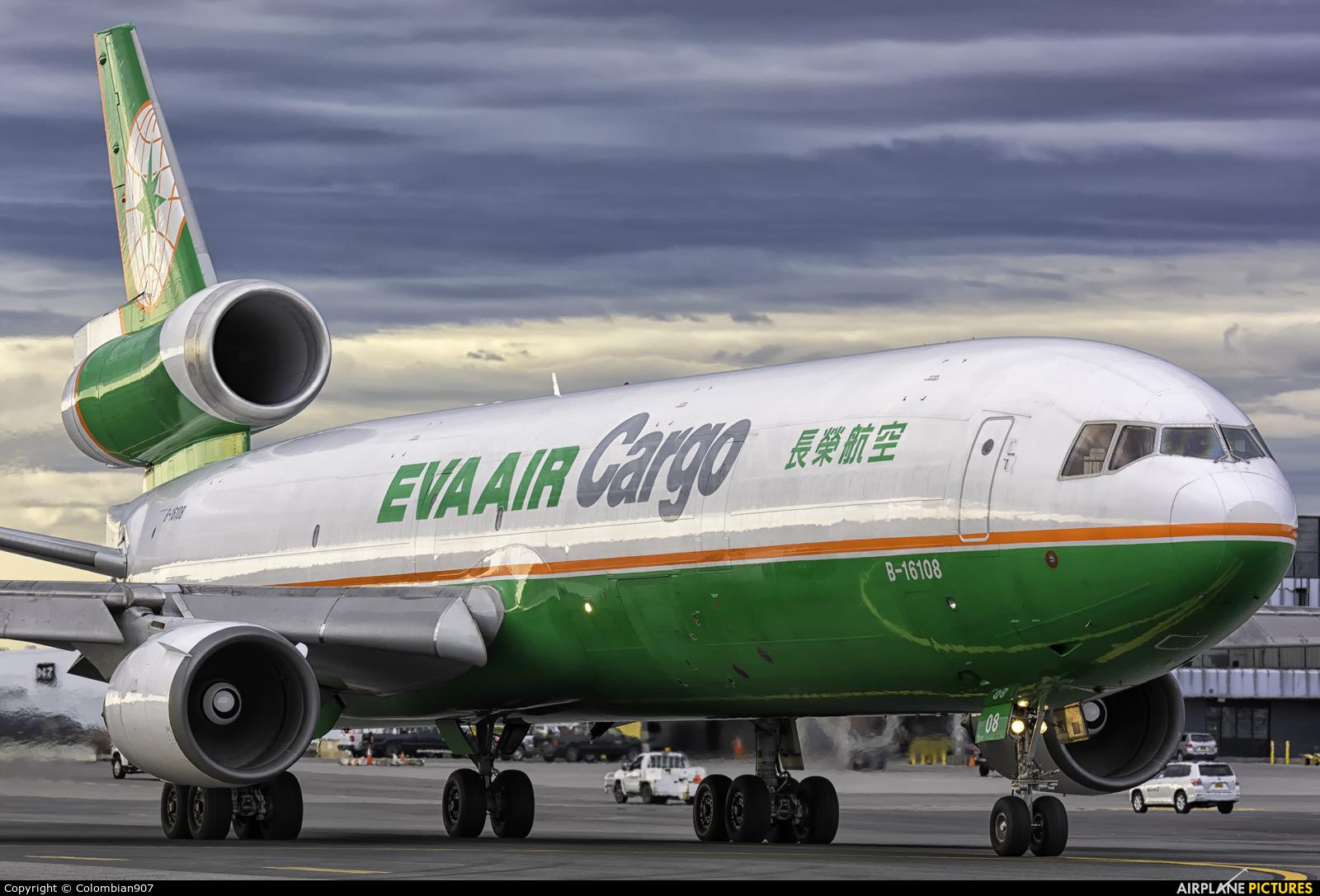 EVA Air Cargo B-16108 aircraft at Anchorage - Ted Stevens Intl / Kulis Air National Guard Base