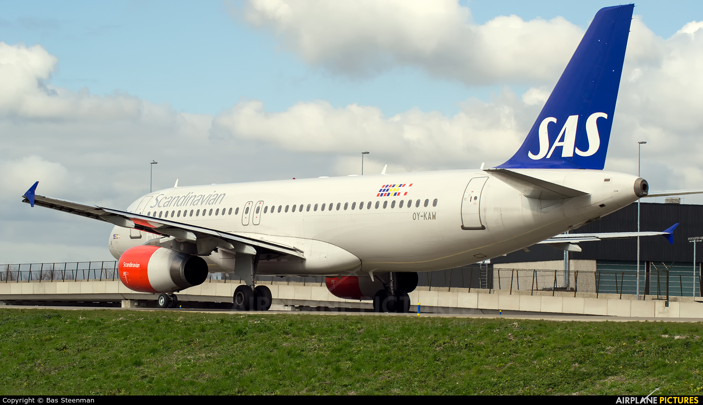 SAS - Scandinavian Airlines OY-KAW aircraft at Amsterdam - Schiphol