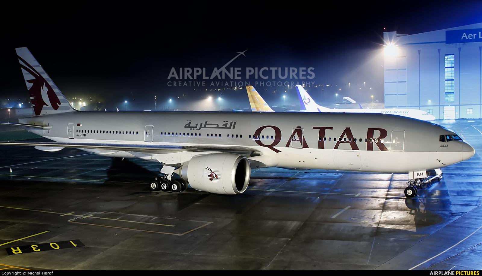 Qatar Airways A7-BBH aircraft at Dublin