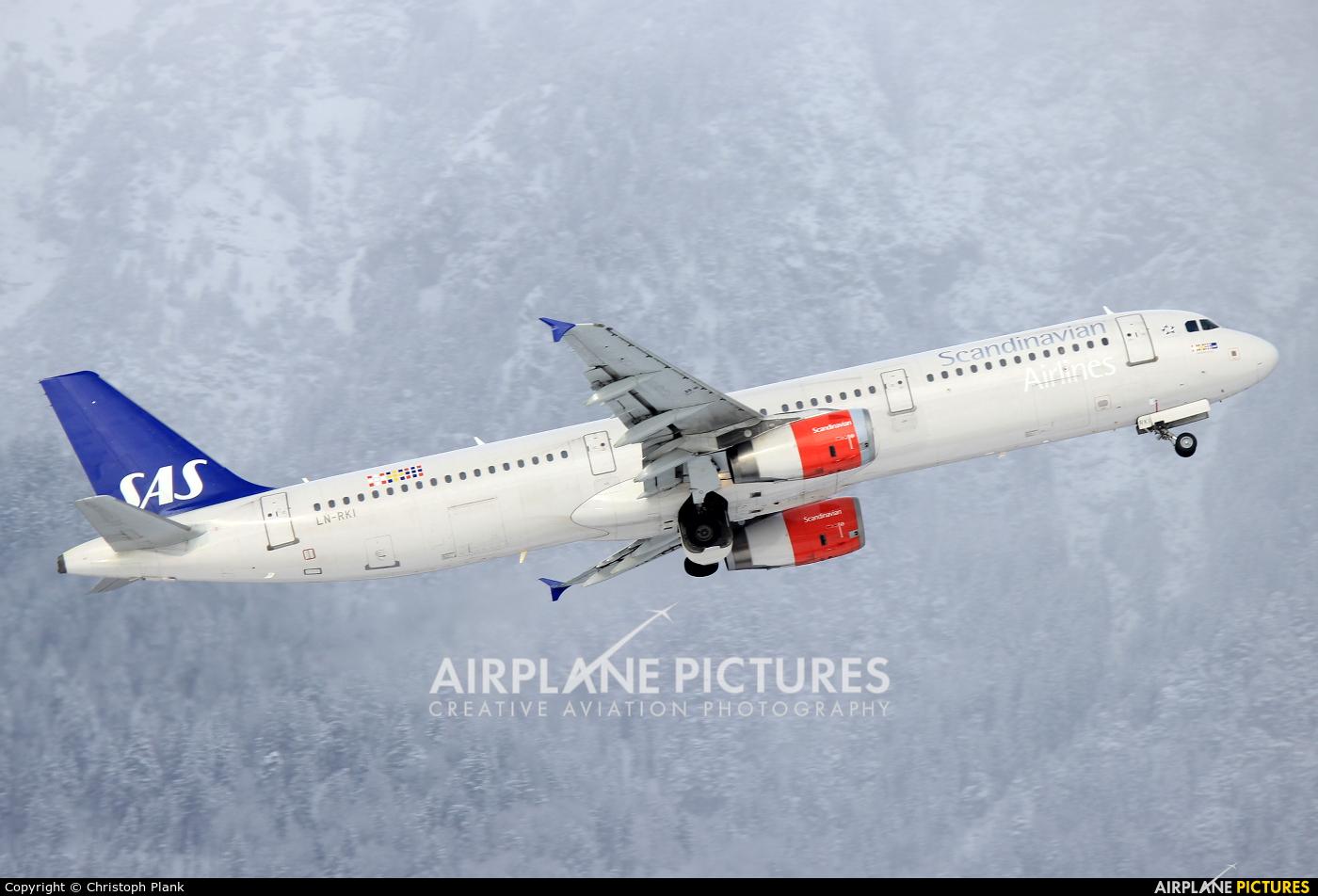 SAS - Scandinavian Airlines LN-RKI aircraft at Innsbruck