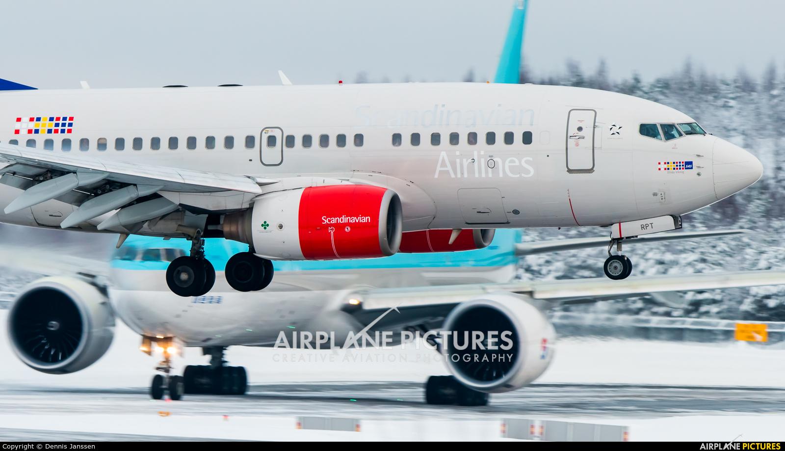 SAS - Scandinavian Airlines LN-RPT aircraft at Oslo - Gardermoen
