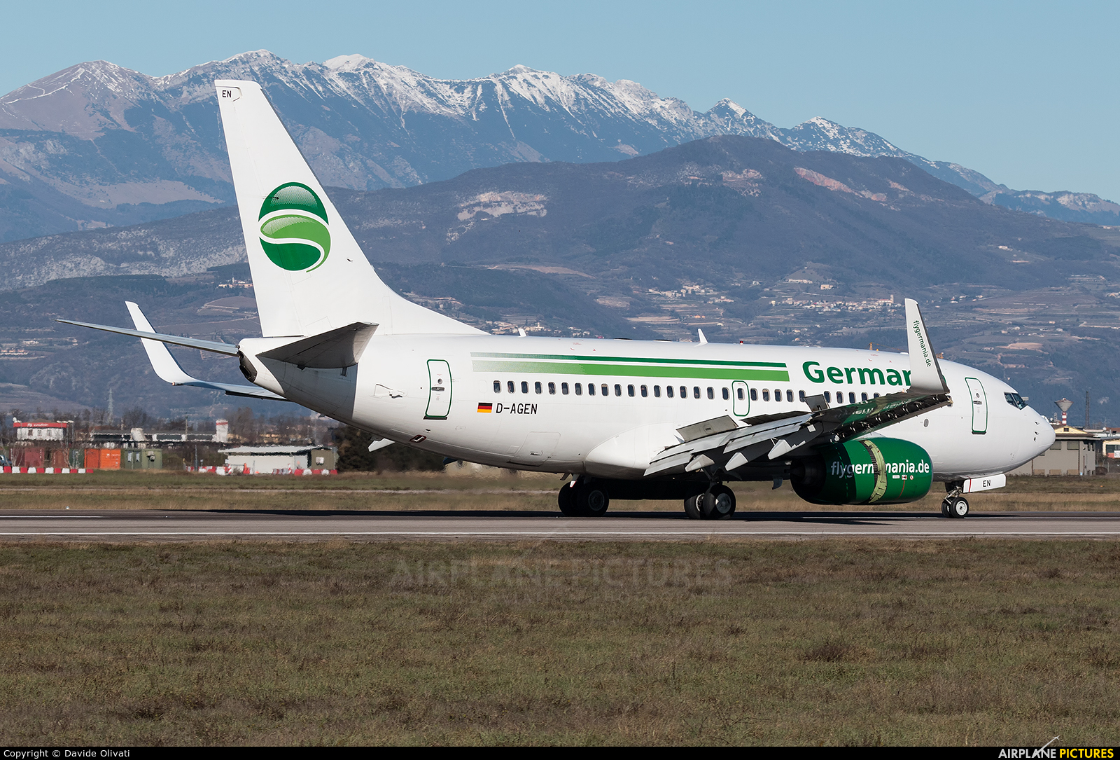 Germania D-AGEN aircraft at Verona - Villafranca