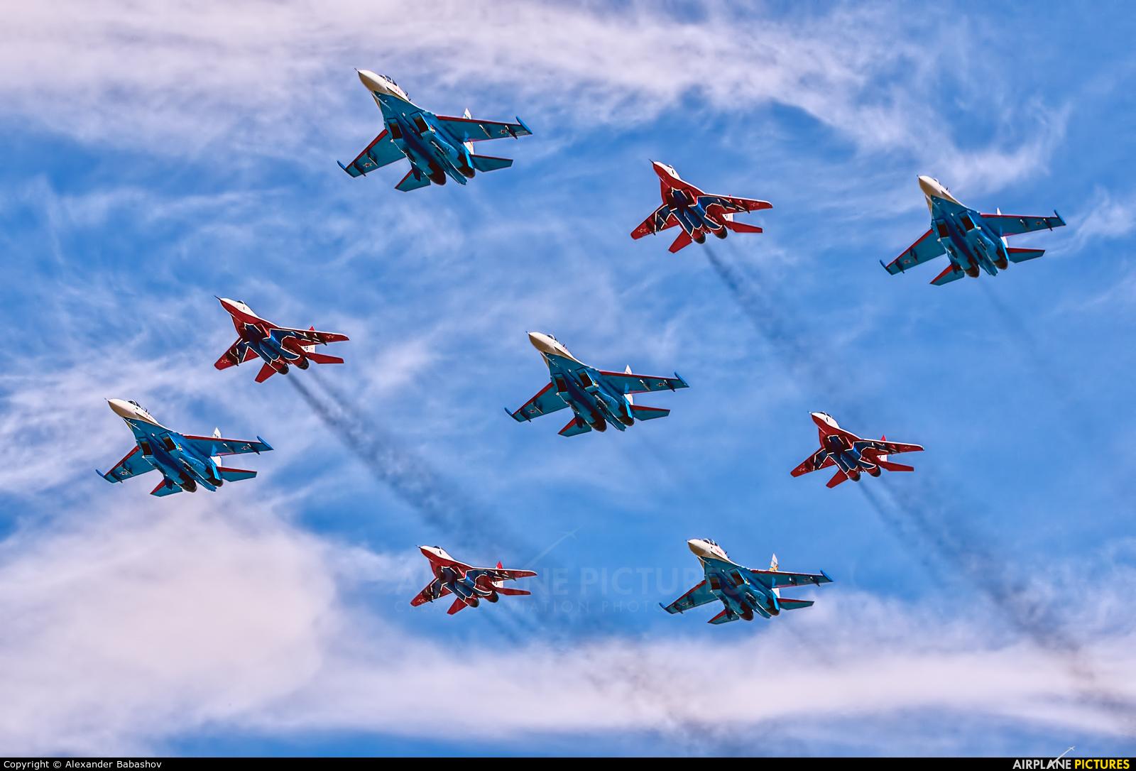 """Russia - Air Force """"Russian Knights"""" - aircraft at Kubinka"""