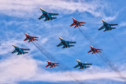 "- - Russia - Air Force ""Russian Knights"" Sukhoi Su-27 aircraft"