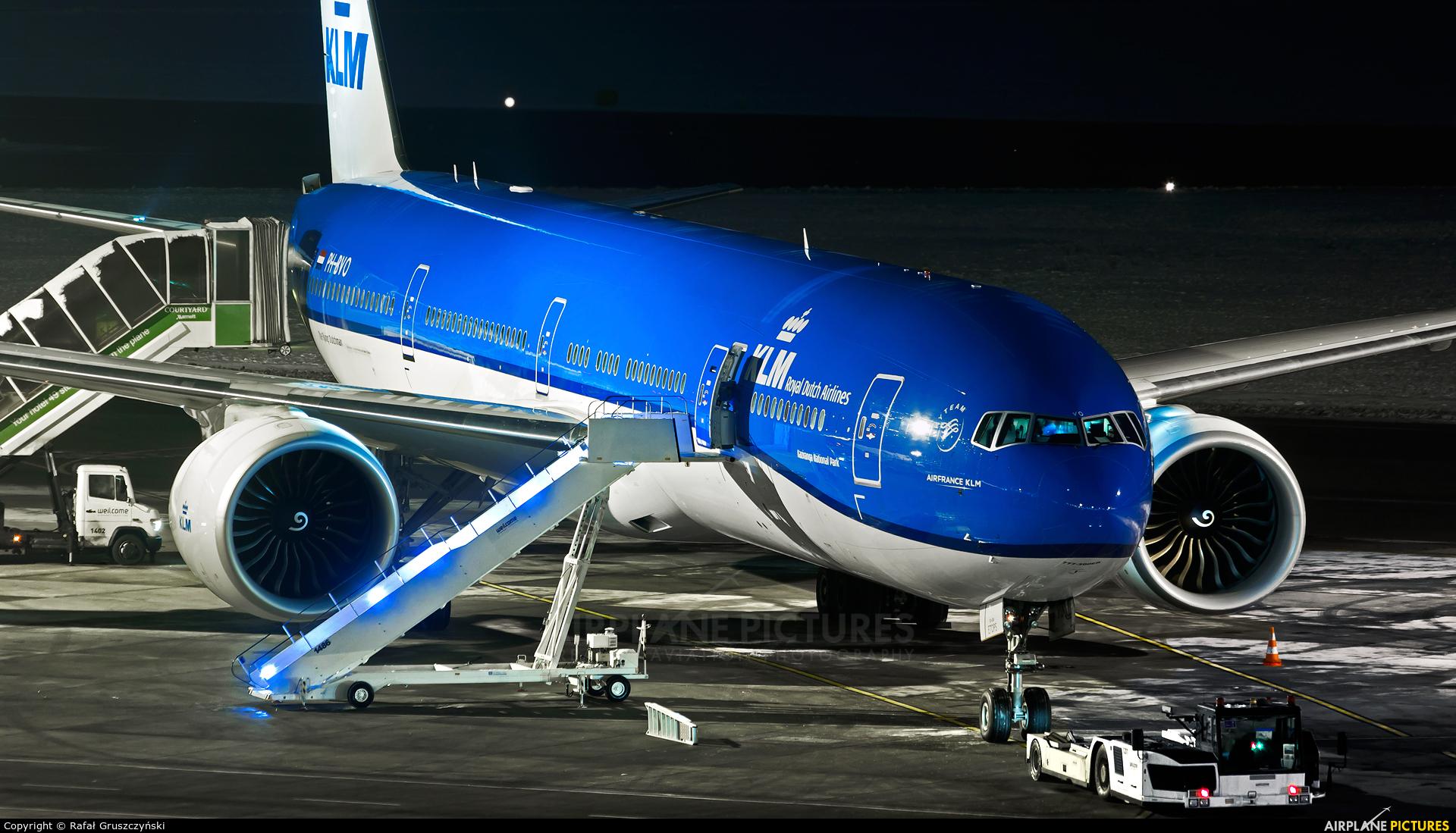 KLM PH-BVO aircraft at Warsaw - Frederic Chopin