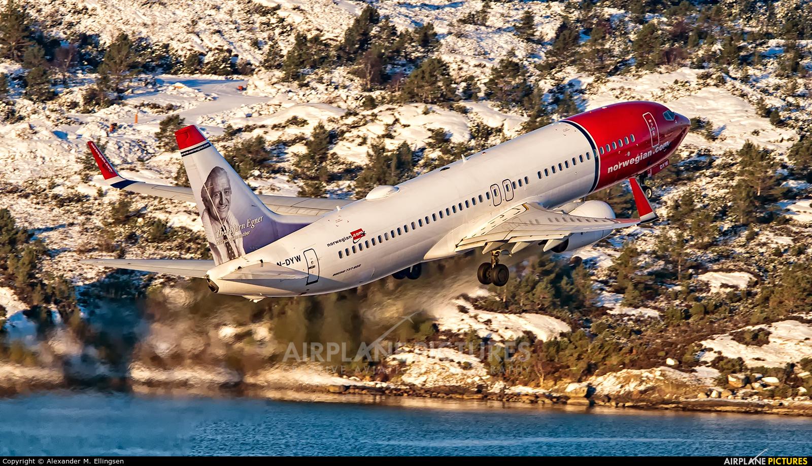 Norwegian Air Shuttle LN-DYW aircraft at Bergen - Flesland